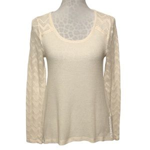 Lucky Brand Mixed Weave Thermal Top